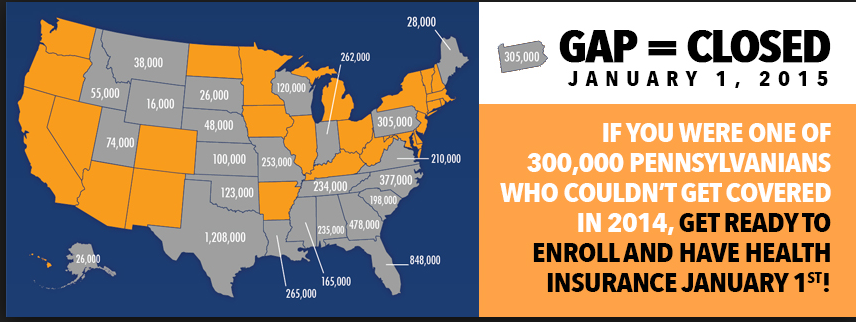 Don't be part of the Coverage Gap—It's time to Get Covered!
